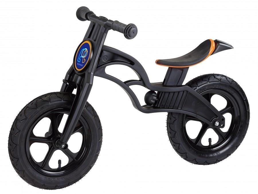 Беговел Pop Bike Flash Black с надувными колесами