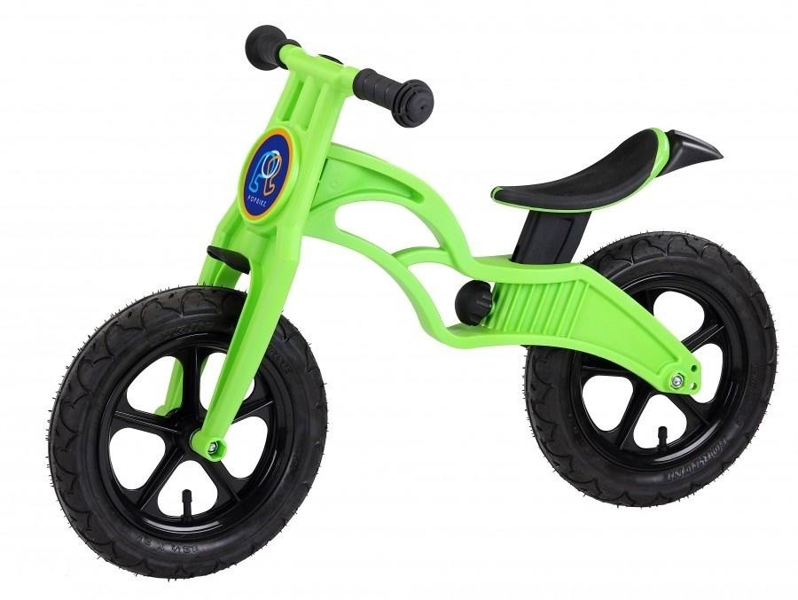 Беговел Pop Bike Flash Green c надувными колесами