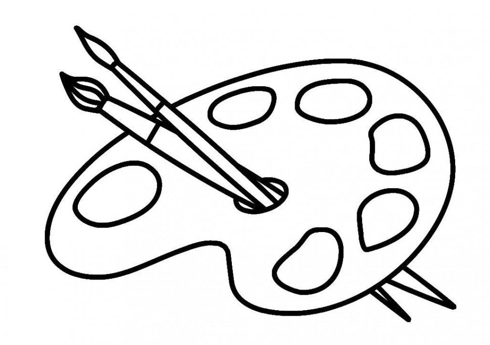 Раскраска Палитра
