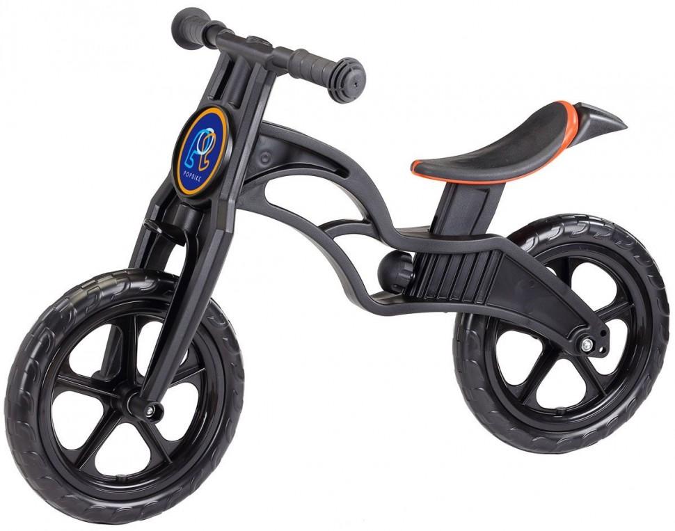 Беговел Pop Bike Sprint black с бескамерными колесами