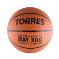 Мяч баскетбольный Torres BM300 р. 7, резина, темнооранж.