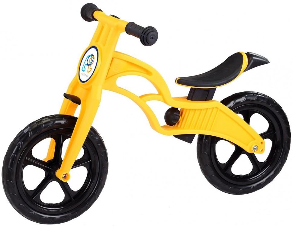 Беговел Pop Bike Sprint Yellow с бескамерными колесами