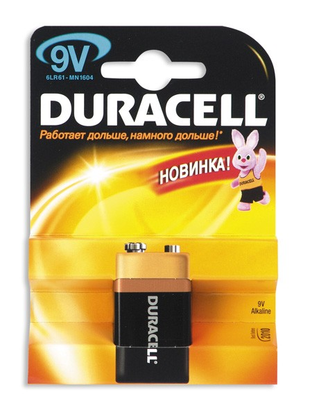 Батарейка Duracell 6LR61 крона