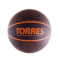 Мяч баскетбольный Torres TT р. 7, резина, бордово-оранж.