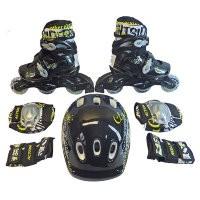 Набор: коньки ролик, защита, шлем PW-120B р. 31-34
