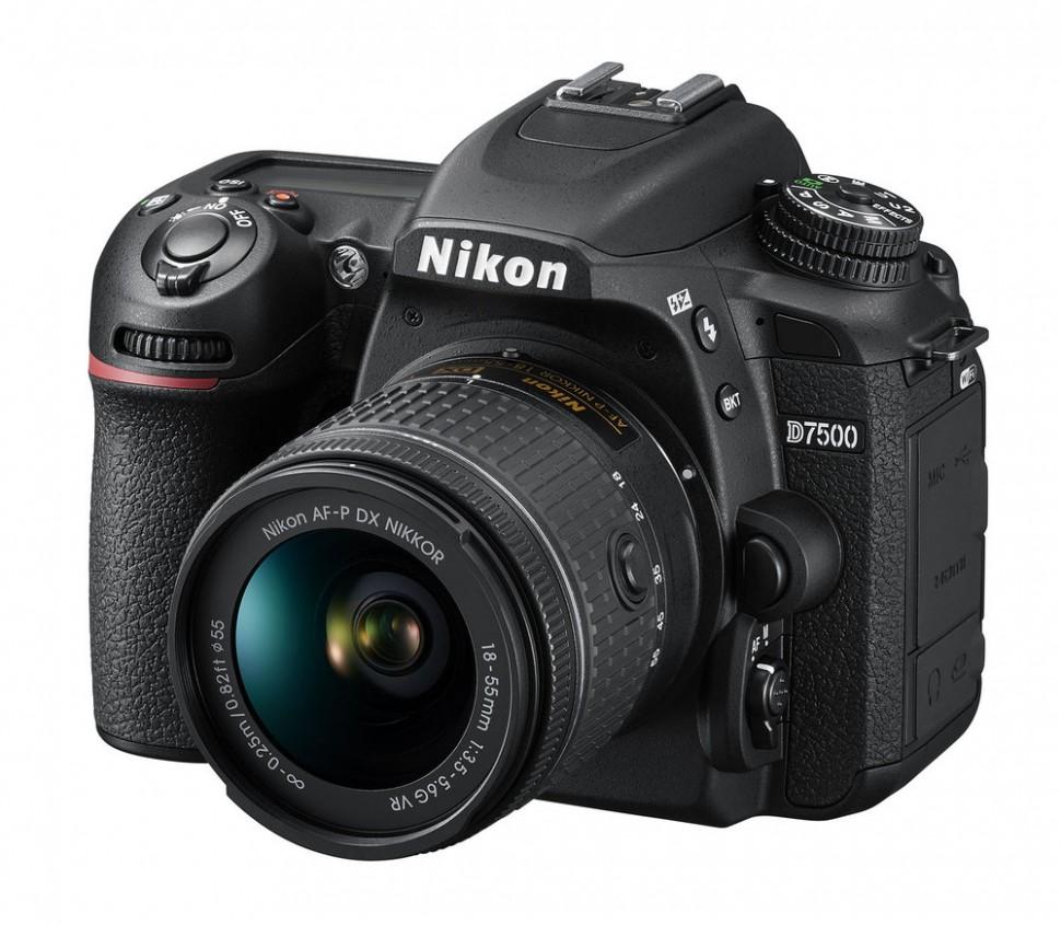 Зеркальный фотоаппарат Nikon D7500 Kit AF-P 18-55 mm