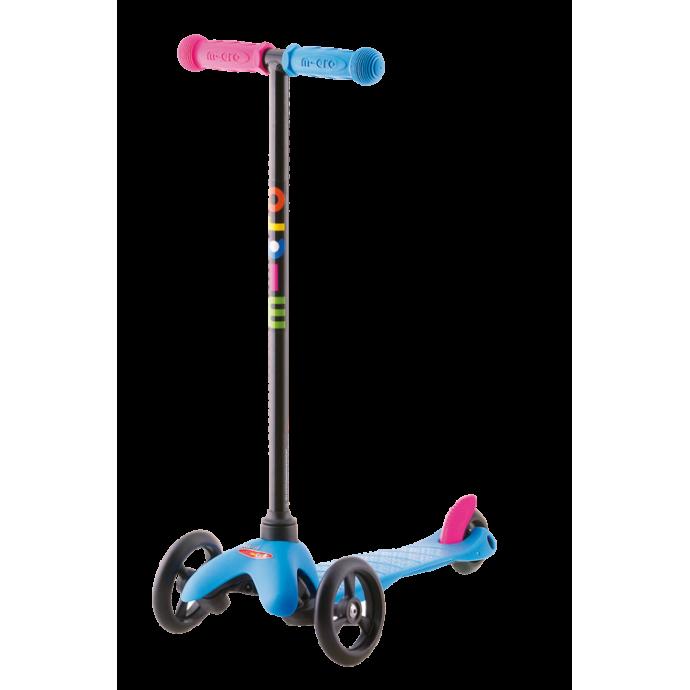 Самокат Mini Micro Neon Sporty (голубой)