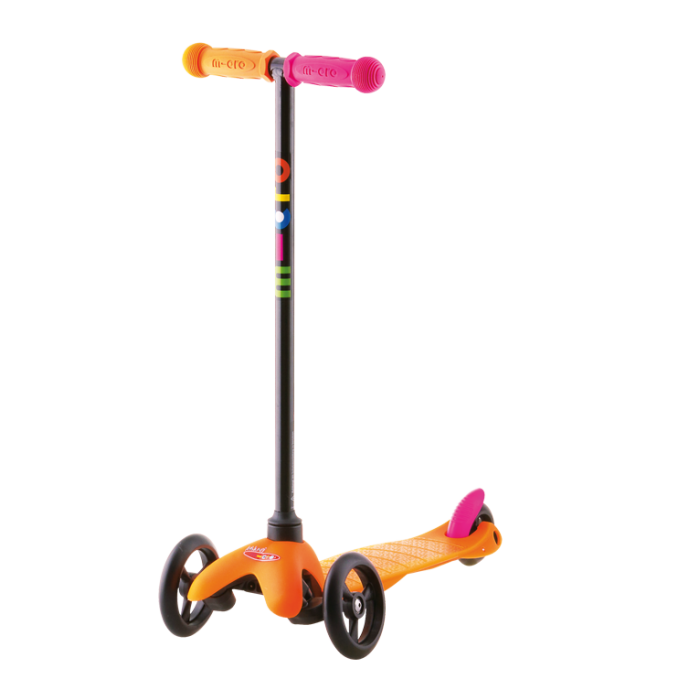 Самокат Mini Micro Neon Sporty (оранжевый)