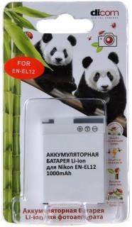 Аккумулятор Dicom DN-EL12 for Nikon EN-EL12 Panda