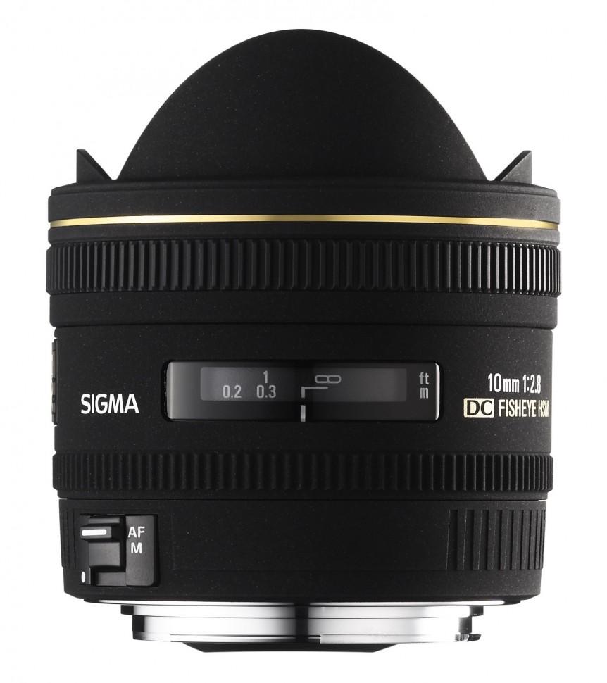 Объектив Sigma AF 10mm f/2.8 EX DC HSM Fisheye для Canon