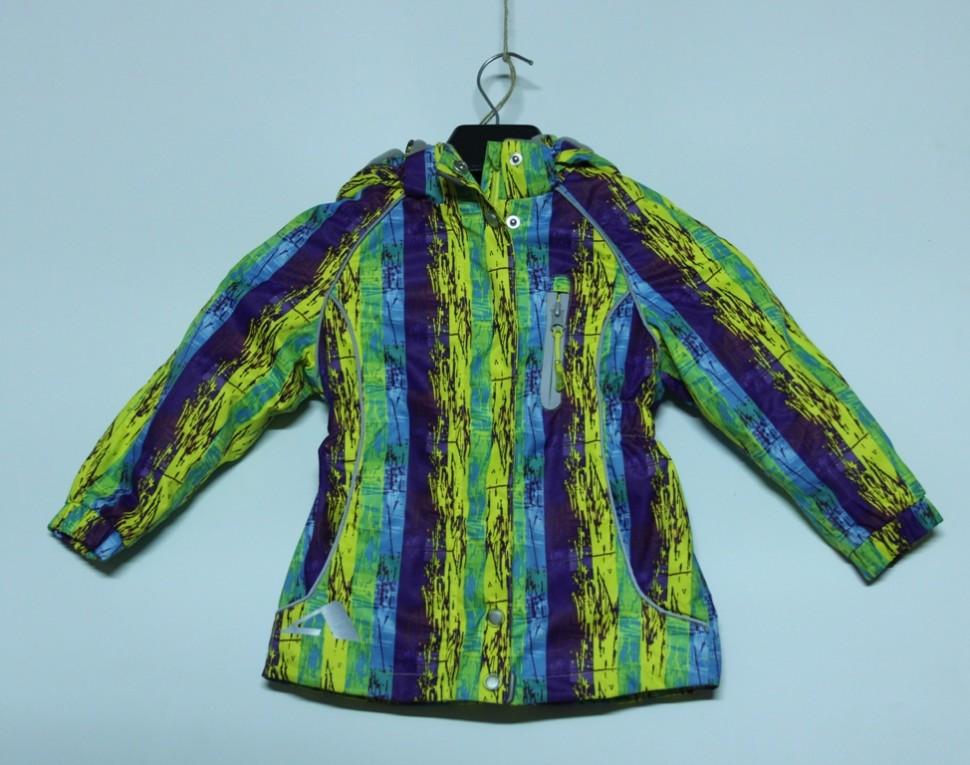 Куртка 15/OA-3JK204-2  желтый/фиолетовый принт