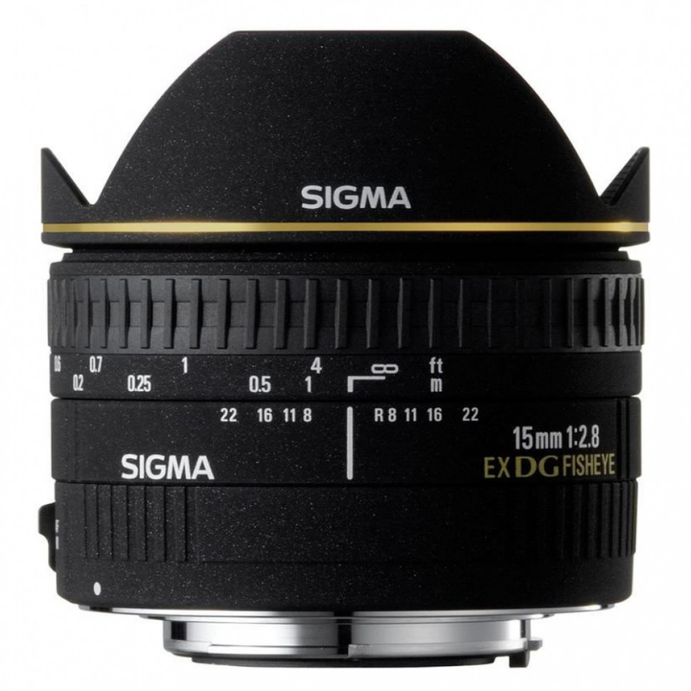 Объектив Sigma 15mm f/2.8 EX DG Diagonal fisheye canon