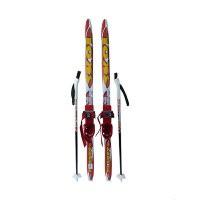 Детский комплект (лыжи, палки,комбинированное крепление) рост 110