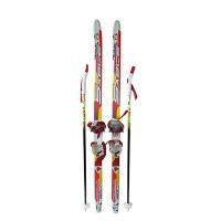 Детский комплект (лыжи, палки,комбинированное крепление) рост 120