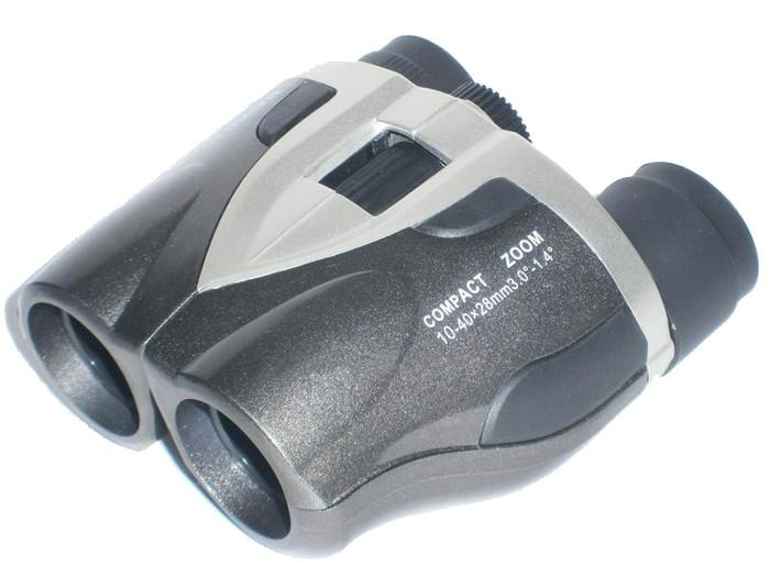 Бинокль Navigator 10-40х28 серебристо-серый