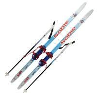 Детский комплект (лыжи, палки,комбинированное крепление) рост 140
