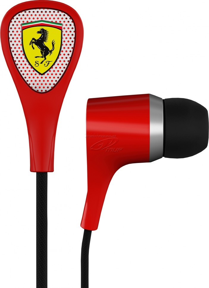 Наушники Ferrari by logic3 S100i Scuderia Collection красный