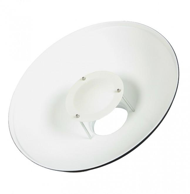 Рефлектор Ditech BDW d 42 см портретная тарелка, white