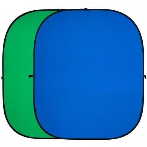 Фон складной FST BP-025 Хромакей зеленый/синий 150х200