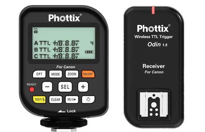 Передатчик/приемник Phottix Odin TTL для пышки Canon, v1.5