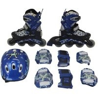 Набор: коньки ролик, защита, шлем PW-780 р. 30-33