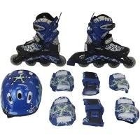 Набор: коньки ролик, защита, шлем PW-780 р. 34-37