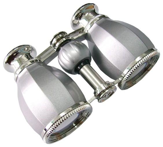 Бинокль БГЦ 4*30 А02 (серебро/серебро с фокусировкой)