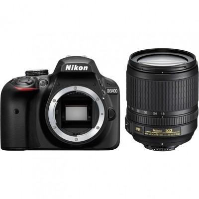 Цифровой фотоаппарат Nikon D3400 Kit 18-105 VR Black