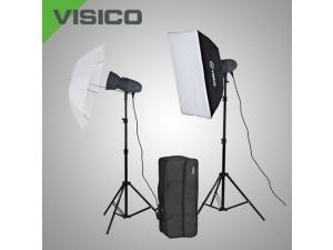 Импульсный свет комплект Visico Vl Plus 200 Soft Box/ Umbrella KIT