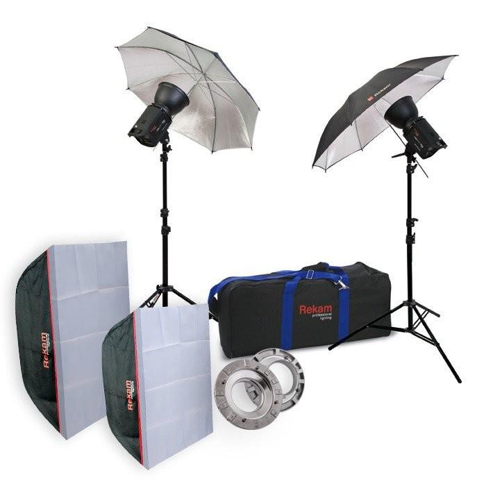 Комплект студийного света Rekam HaloSuper-1K Ub & Sb Kit 3