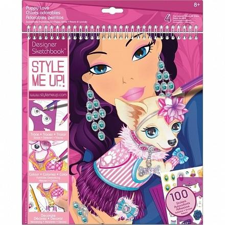 Style Me Up Альбом дизайнера с трафаретами - Очаровательная собачка