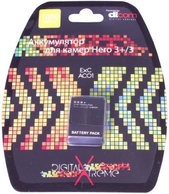 Dicom ExCAC01 аккумулятор 1050mAh для Gopro Hero 3+/3