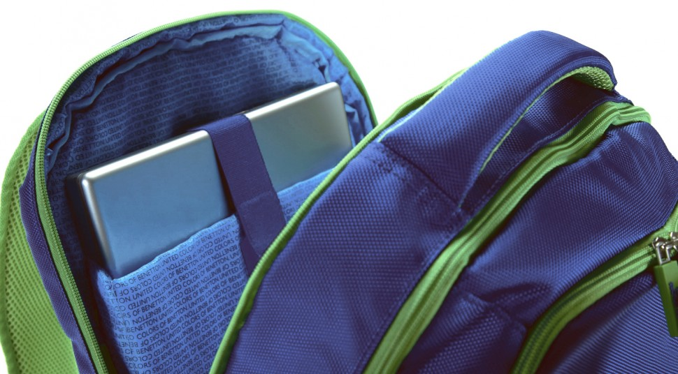 Рюкзак Benetton laptop backpack blue