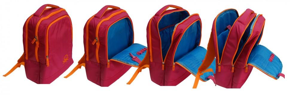 Рюкзак Benetton laptop backpack fuchsia