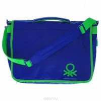 Сумка Benetton laptop messenger blue