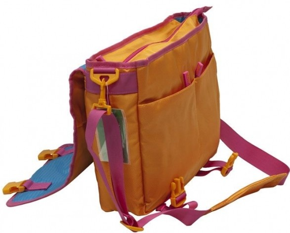 Сумка Benetton laptop messenger orange