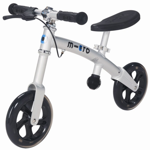 Беговел G-Bike+ Light (хромированный аллюминий)