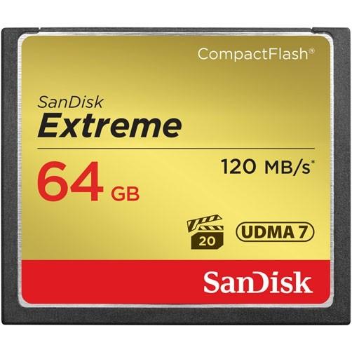 Карта памяти Sandisk CF  Extreme 64GB 120MB/s