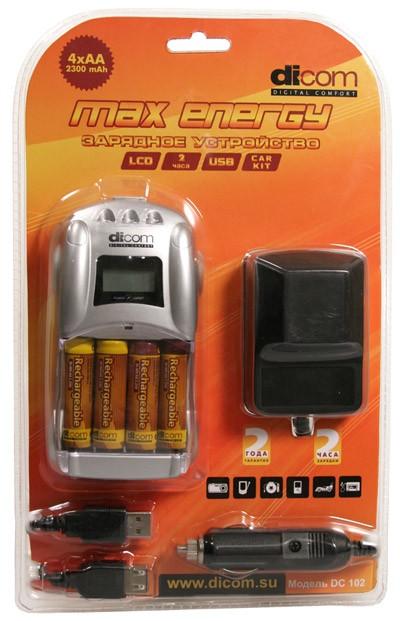 Зарядное устройство Dicom Max Energy DC102 + 4 ak/2300