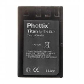 Аккумулятор Phottix Li-on EN-EL9a для камер Nikon D40/D40x/D60/D5000