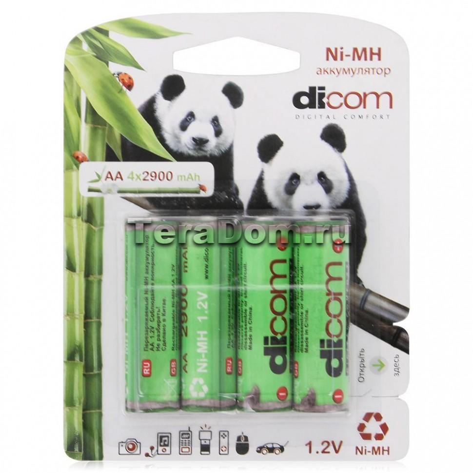 Аккумулятор Dicom Panda AA2700mAh-блистер 4шт NIMH