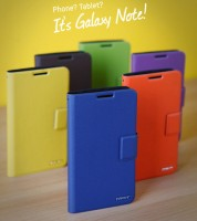 Чехол Mfit Galaxy Note orange/brown/blue/yellow