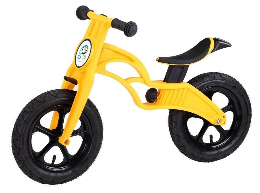 Беговел Pop Bike Flash Yellow с надувными колесами