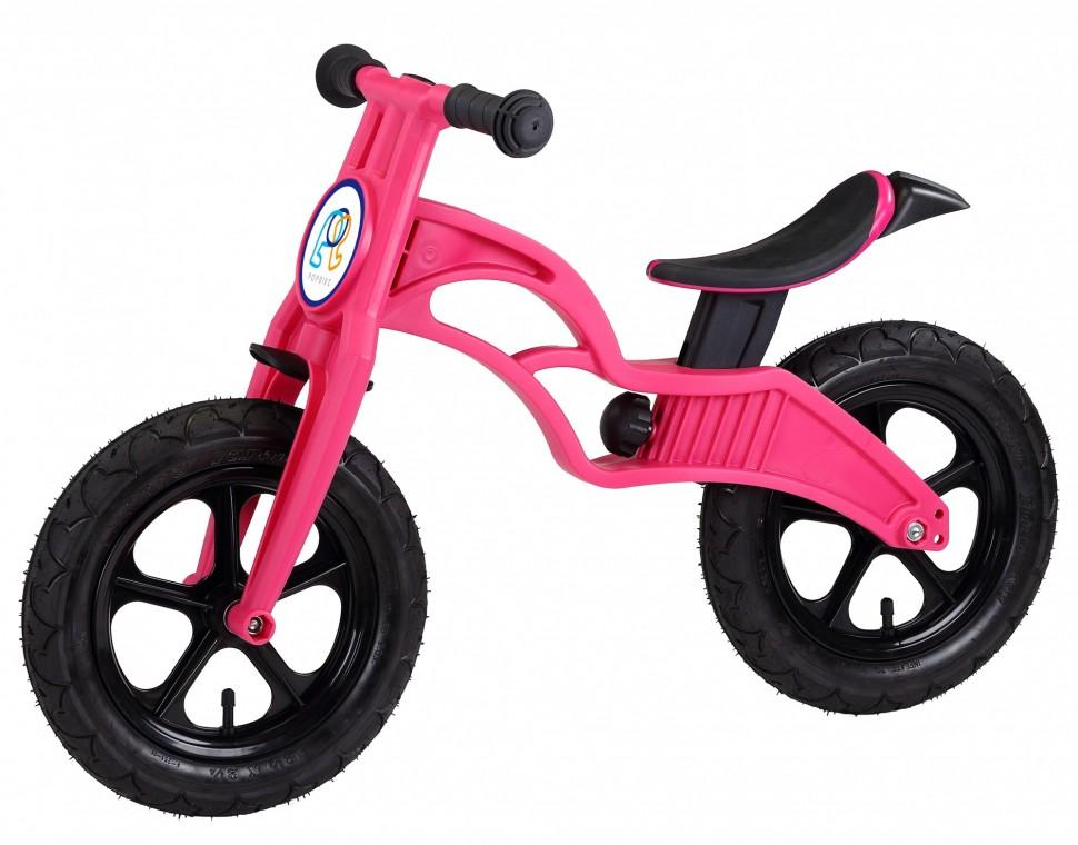 Беговел Pop Bike Flash Magenta с надувными колесами