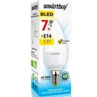 Лампа SmartBuy LED 7 E14 C37 60Вт Теплый свет